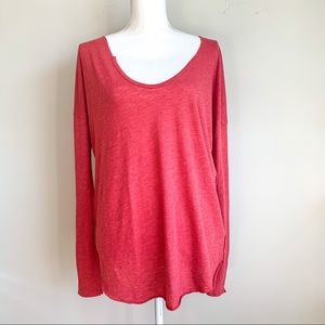 🆕FREE PEOPLE Distressed Long-sleeve Tee Size S